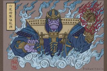 Estos Avengers japoneses son una propuesta del ilustrador Takumi, para recrear a los personajes con el estilo de Ukiyo-e.