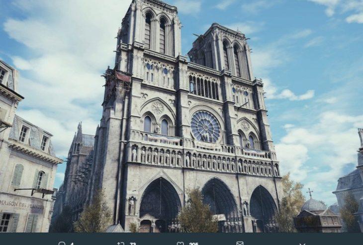 La versión digital que se realizó en Assassin's Creed Unity es una de las digitalizaciones más precisas, la cual serviría para reconstruir Notre Dame.