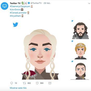 Utiliza los emojis de Game of Thrones que Twitter tiene disponible para el estreno de la última temporada y comparte el hashtag #ForTheThrone.