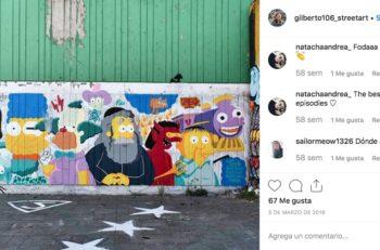 Durante el Día Mundial de Los Simpsons puedes visitar los grafitis de la colonia Infonavit Iztacalco, que ahora es conocida como Sprayfield.