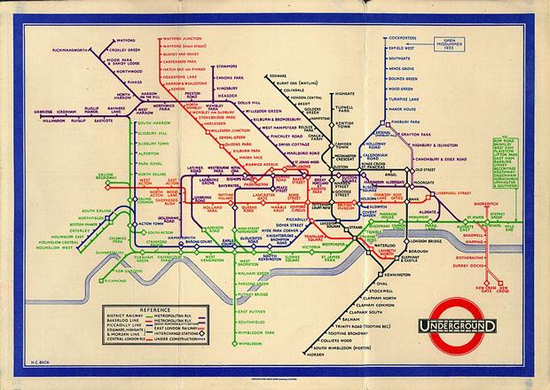 Harry Beck es el creador del mapa esquemático del metro de Londres como lo conocemos actualmente, contrario a lo que se creería, éste no era diseñador.