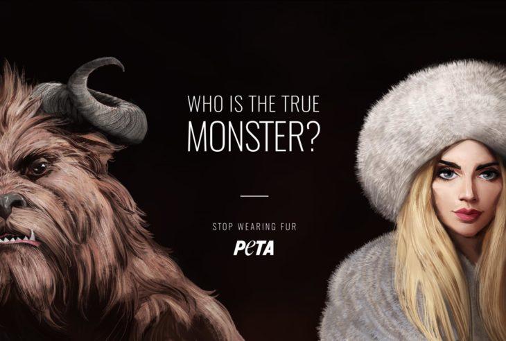 ¿Quién es el verdadero monstruo? Anuncio de PETA contra las pieles