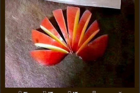 El logo de Huawei y Apple son el mismo, sólo que uno está cortado