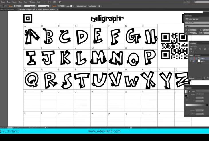 En los siguientes tutoriales se explica cómo crear una fuente tipográfica en Illustrator, desde los bocetos manuales hasta el archivo TTF.
